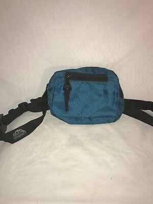 Fanny Pack Hip Bum Bag 2 Pockets Zipper Pouch Hikes Blue Top Zip / Front Zip