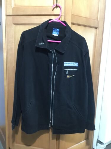 House of Blues Black Jean Jacket with Pins - Size Medium