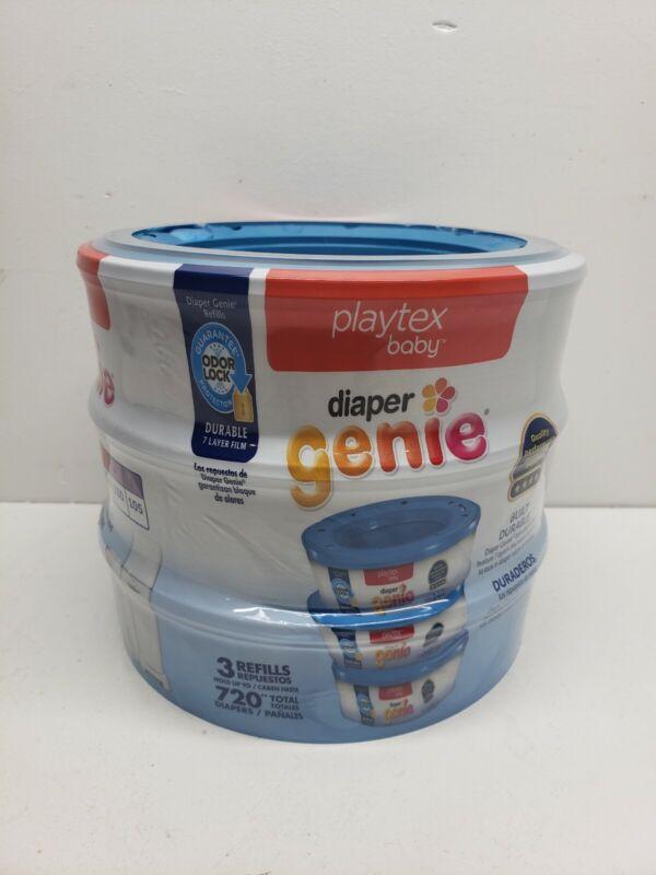 Playtex Diaper Genie Refills Diaper Bags 3 Packs, 720 Counts