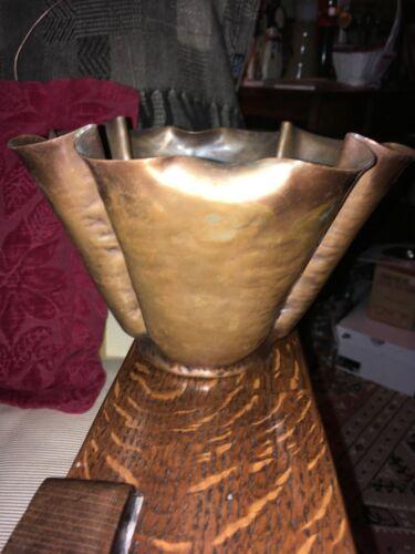Vintage Craftsmen Hand Made Copper Bowl/Vase 834