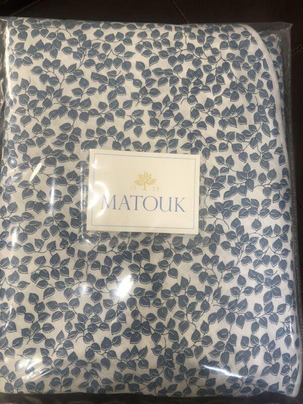 """$400 Matouk Italy NWT 1pc Round 100% Linen Tablecloth 90"""" Round Margot"""