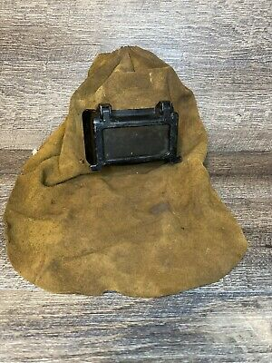 Vintage Military Style Leather Welding Hood Mask Steampunk Chester Pa