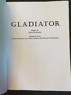 GLADIATOR (2000) Screenplay-Ridley Scott, Russell Crowe-Won Best Picture Oscar