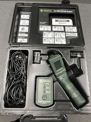 Greenlee Cs-8000 Circuit Seeker Tracer Finder Transmitter Reciever W Case