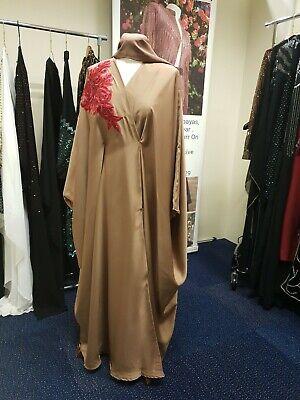 Women Abaya Jubba Kimono  Maxi Kaftan Burkha Dubai Eid NEW