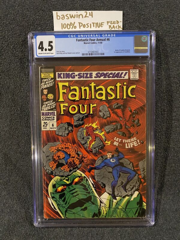Fantastic Four Annual 6 CGC 4.5 1st Appearance Of Annihilus