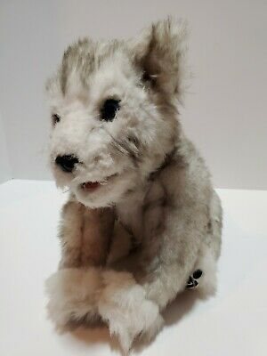G4 WowWee Alive Siberian Husky Pup Interactive Electronic Plush Toy Wolf Dog