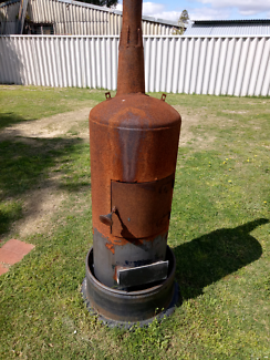 Outdoor wood pot belly style heater/fire