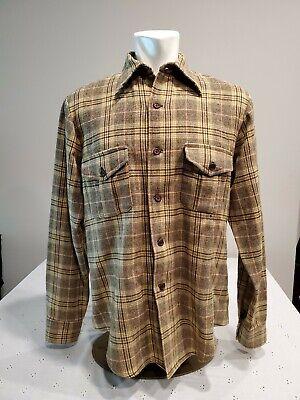 1970s Mens Shirt Styles – Vintage 70s Shirts for Guys Vintage 1970s Pendleton Wool Flannel Medium button up Shirt  $38.88 AT vintagedancer.com