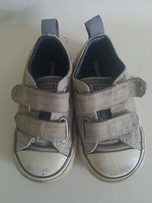 Baby Toddler Boy Girl Unisex Gray CONVERSE ALL STAR Shoes Size 5
