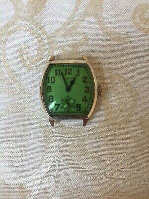 1927 Waltham Art Deco Men's Watch, 15J, Etched Case, Size 3/0--Serviced!