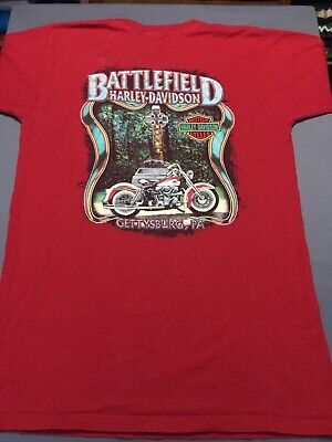 Harley Davidson Gettysburg PA Celtic Cross Irish Wolfhound T Shirt Made In (Crossings In Pa)