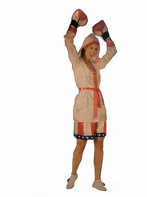 Adult or Teen Female Boxer Womens Small (6-8) Halloween Costume Dress Up Girls  (Female Boxer Halloween Costume)