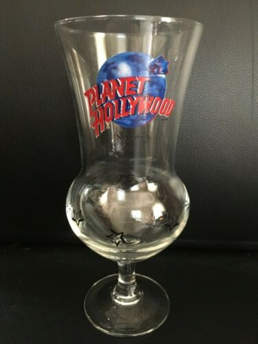 Planet Hollywood Hurricane Cocktail Glass NEW YORK NY Souvenir NIB