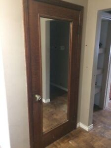 Vintage mirrored door, 32x78