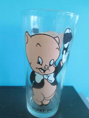 "Vintage 1973 PORKY PIG 6 1/4"" Pepsi Warner Bros Collector Series Glass"