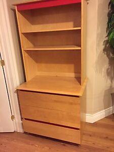 3Drawer dresser with book shelf