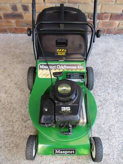 BRIGGS STRATTON 4 STROKE,MASPORT,ALLOY,SERVICED LAWNMOWER.CATCHER