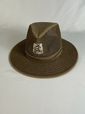 Henschel Mesh Aussie Breezer Size L Wide Brim Hat Packable Red Rock Insignia