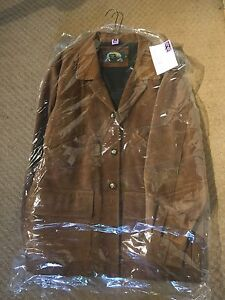 Cabela's Hunting Leather Field Shooting Coat / Jacket XL