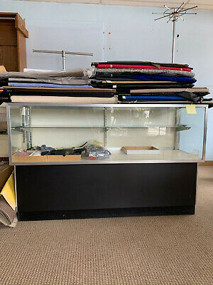 Glass Display Case 5 Free-standing Half-vision With Black Base