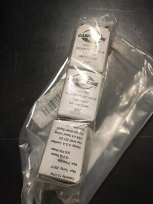 Lot Of 3 Cash Acme 22398-0000lf Vr-801 Drill Vent 34-inch Vacuum Relief Valve