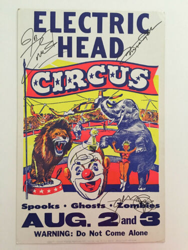 """White Zombie Autograph Signed Poster 14"""" x 22"""" Electric Head Rob Zombie"""