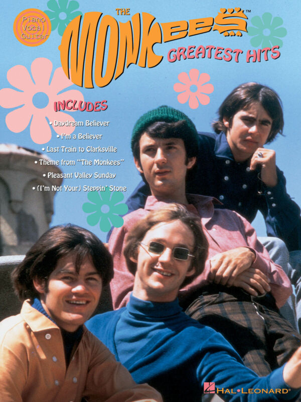 The Monkees Greatest Hits Piano Sheet Music Guitar Chords 20 Songs Book