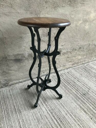 Cast Iron Stool - Custom Fabricated from Antique Sewing Machine Base (#1)