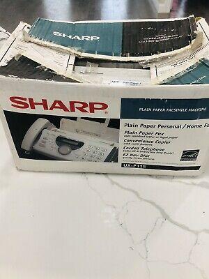 New Open Box Sharp Ux-p115 Plain Paper Personal Home Fax Machine Copier Phone