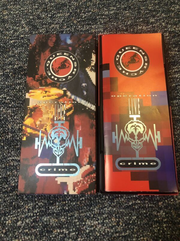 Autographed Queensryche Operation: Livecrime Signed VHS CD Box DeGarmo (all 5)