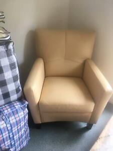 Tan Leather armchair Albany Creek Brisbane North East Preview