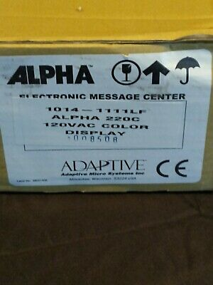 Alpha 220c Single Line Programmable Led Sign