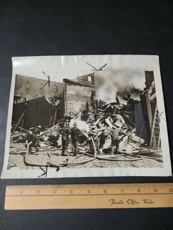 Vintage Fire Department Photograph 1932 Mulgrew Mills NYC Fire
