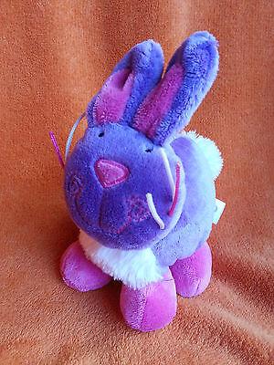 "Tesco Purple Bunny Rabbit Soft Toy Comforter ~ Rattle 6"" 2008"