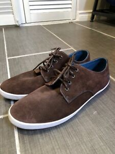 Fred Perry Brown Suede Sneaker Type Shoes - Size 8.5