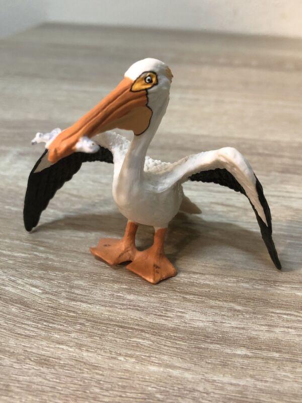 2004 Safari Ltd White Pelican with Fish