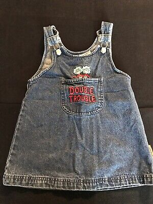 Dr. Seuss Thing 1 & Thing 2 Overall Dress Toddler Size 4T - Thing 1 Dress