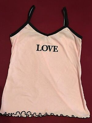 Pink Sexy Love Womens Junior Pajama Cami Top Size Small S