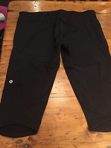 2 pairs of Lululemon Running Crops, Size 10