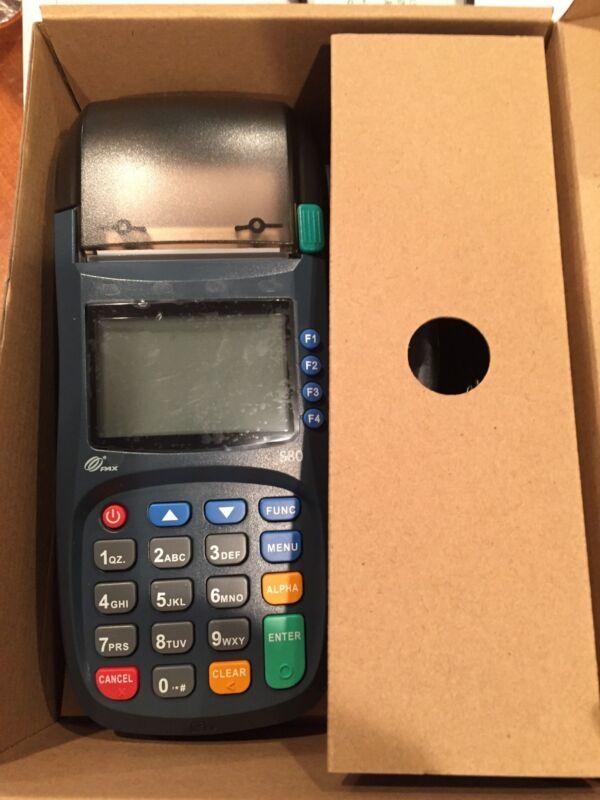 Pax S80 EMV Terminal, Visa MasterCard Discover, Machine Apple Pay, No account