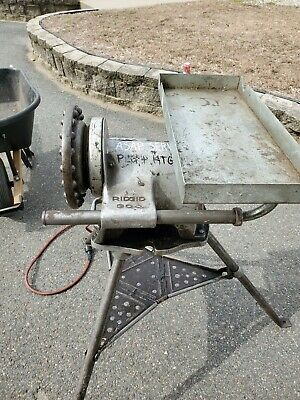 Ridgid 300 Pipe Threader Threading Machine And Accessories Used