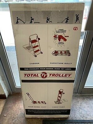 Total Trolley 42 Collapsible Hand Cart 4 In 1 Step Ladder Cart New