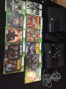 2 xbox 360 consoles and games for sale