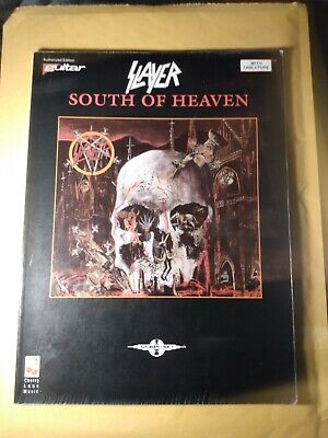 Slayer South Of Heaven Cherry Lane Music Guitar Tab Excellent Condition