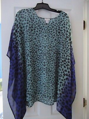 chicos ombre cheetah print shirt