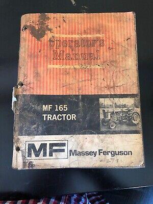 Massey Ferguson Mf 165 Tractor Operators Owners Manual Book Maintenance