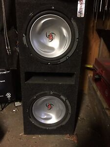 "2 10"" kenwood subs in box"