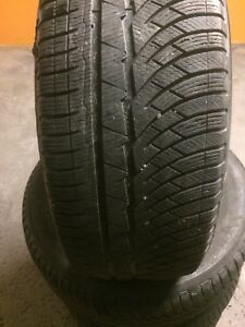 Michelin winter tires 245 50 r18 pneus d'hiver Pilot Alpin