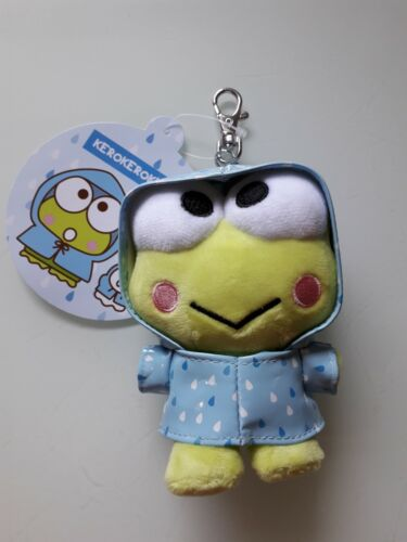 Sanrio Keroppi Wear Raincoat Plush Keychain